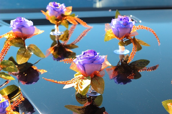 Розы с блестками